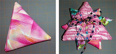 Folded Fat Quarter Stars
