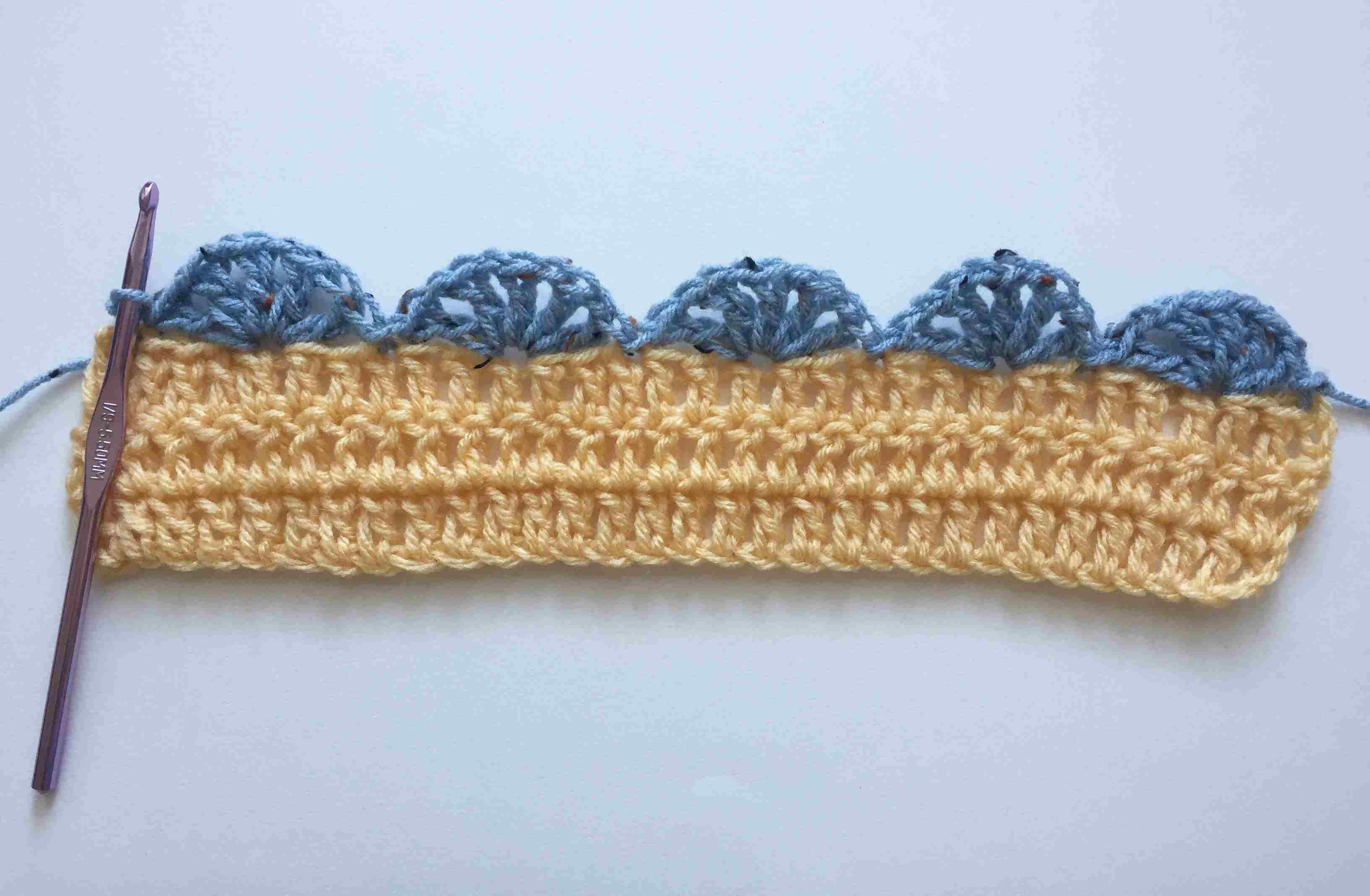 Simple Shell Stitch Crochet Edging Pattern