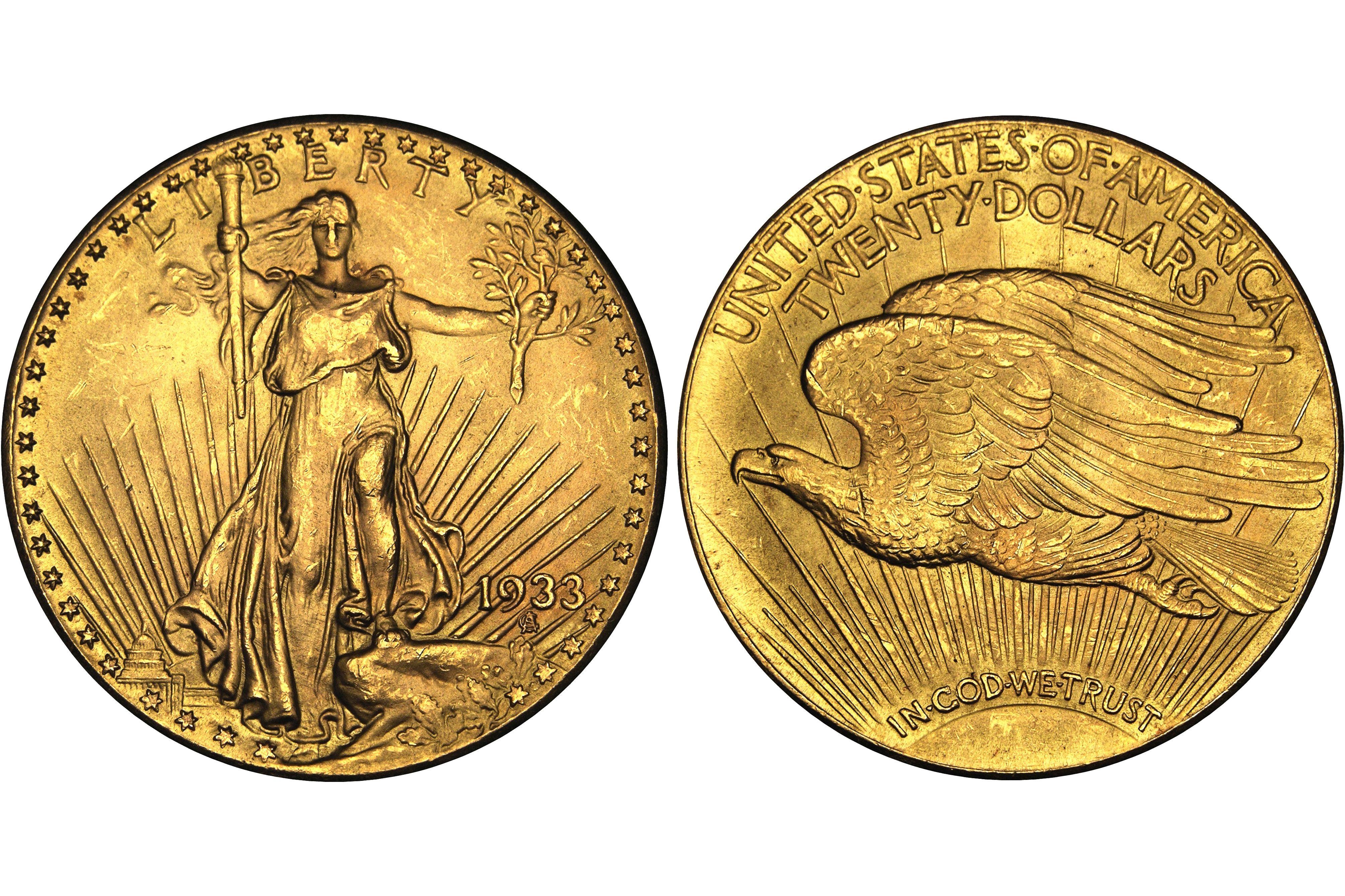 1933 Saint-Gaudens $20 Gold Double Eagle