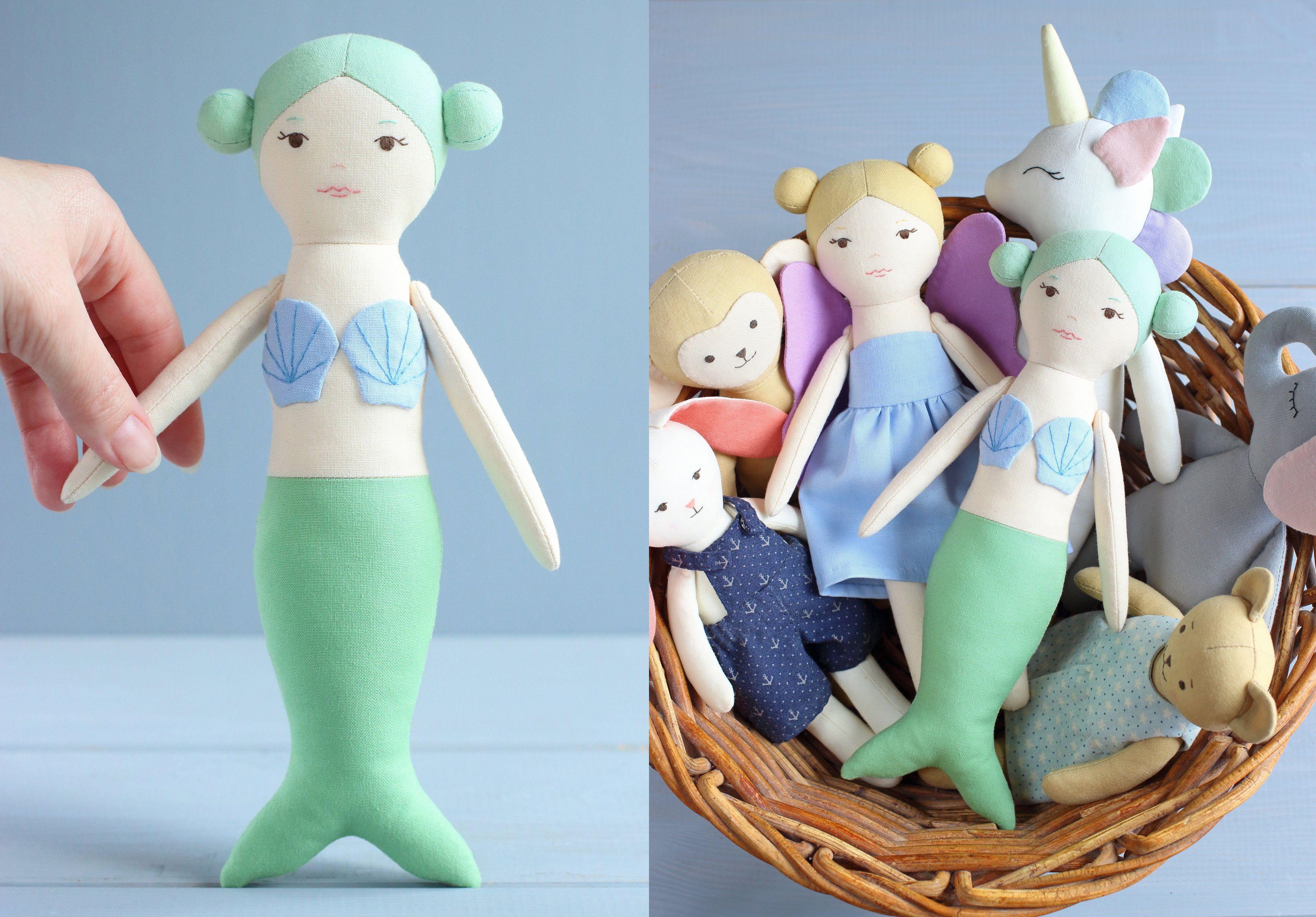 Mermaid Doll Sewing Pattern