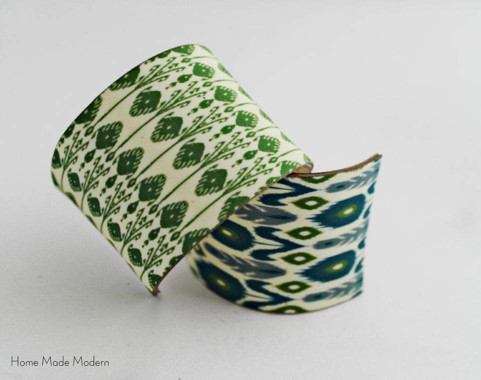 DIY Ikat Napkin Rings