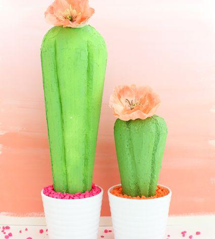 DIY Cactus Centerpiece
