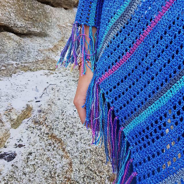 Sea-inspired poncho