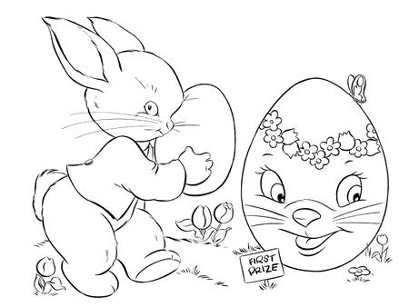 A Bunny Holding An Easter Egg