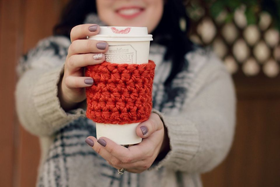 Easy Crochet Coffee Cup Cozy Free Pattern