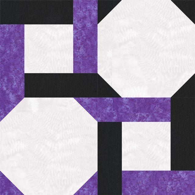 Round the Twist Quilt Block Pattern