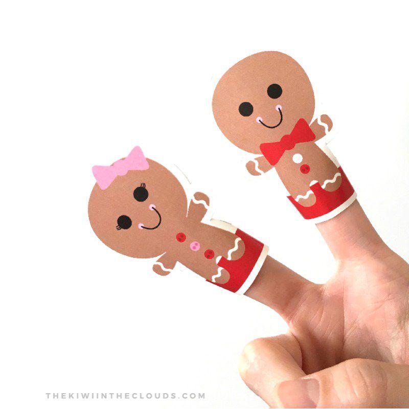 gingerbreadman finger puppet