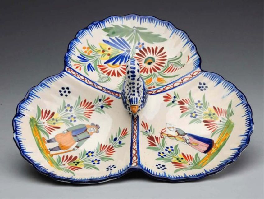 Henriot Quimper Serving Plate, ca. 1935