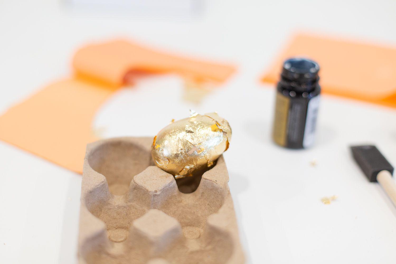 Gold leaf DIY Easter egg
