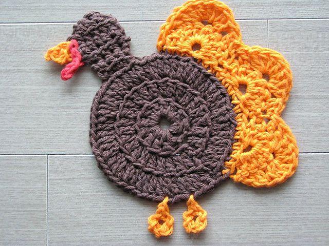Turkey Crochet Coaster FREE Pattern