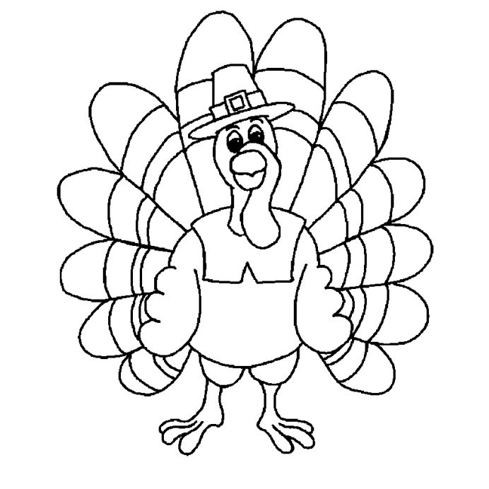 Print These Free Turkey Coloring