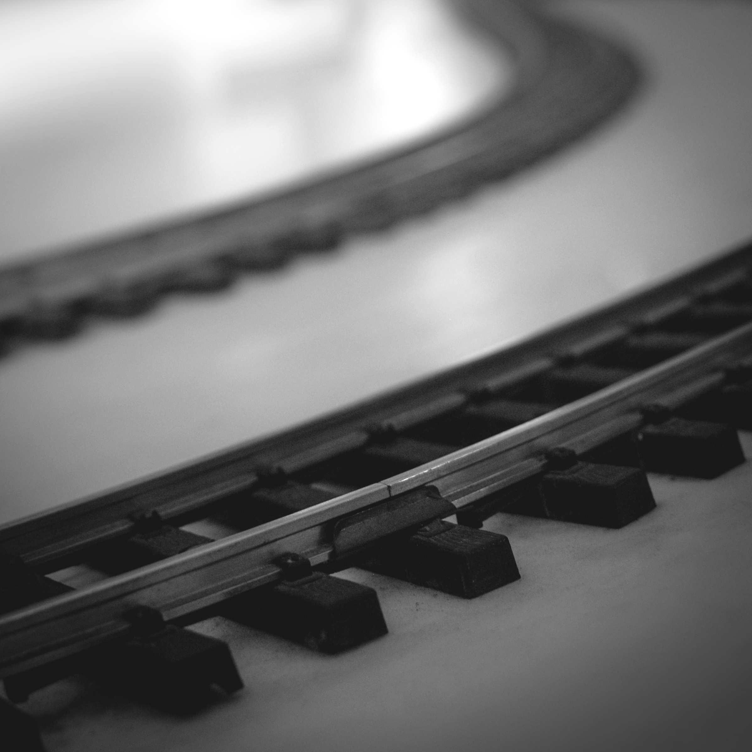 Toy Train Tracks - Monochrome