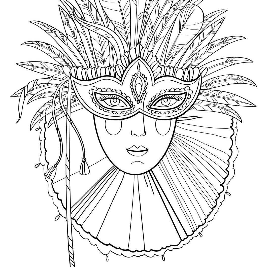 Mardi Gras Mask coloring page | Free Printable Coloring Pages | 1060x1060