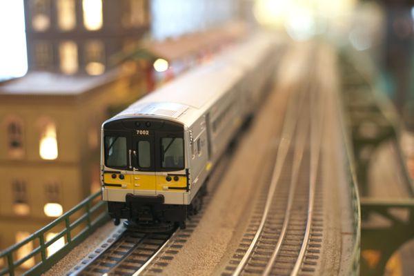 Miniaturte of train on tracks