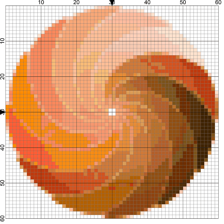 Starburst Swirl Needlepoint Design Image
