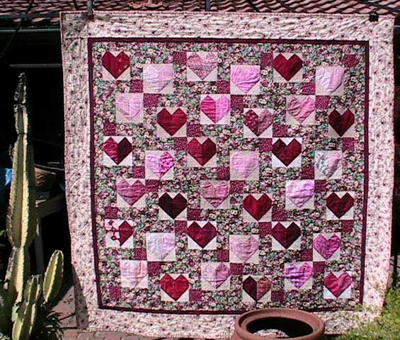 Hearts and Roses Quilt