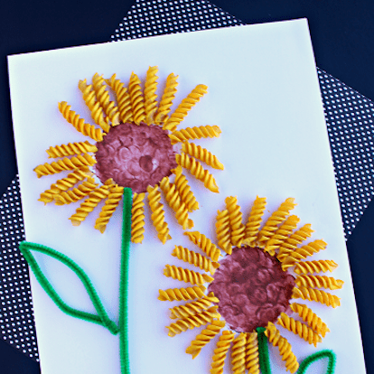 Noodle sunflower craft