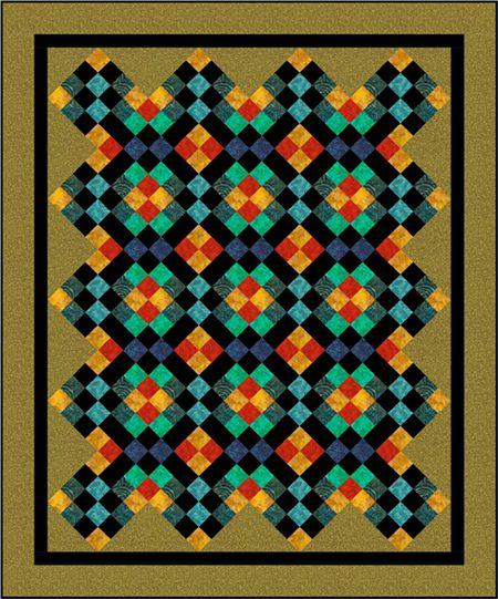Quilt Patterns Mosaic Four Patch Quilt Pattern