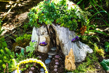 How to Make Fairy Houses With Materials From Your Yard