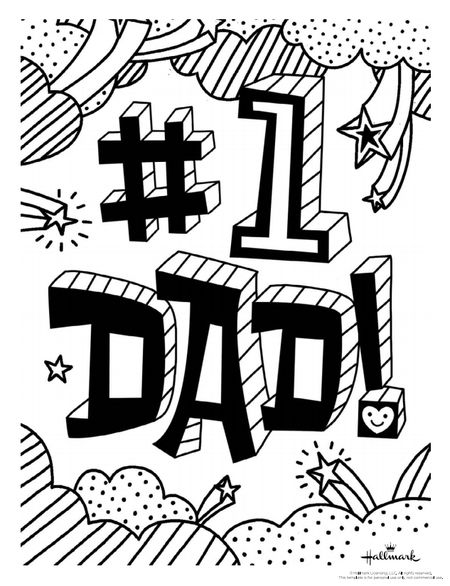 A Coloring Page That Says 1