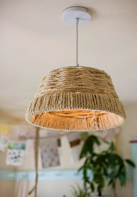 12 DIY Pendant Light Fixtures From Upcycled Items