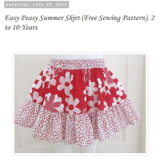 Free Patterns To Sew Skirts
