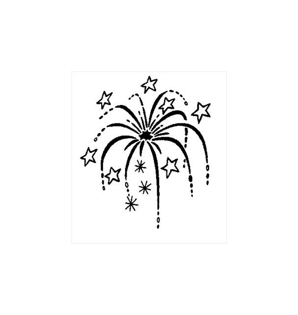 A black and white firework spark