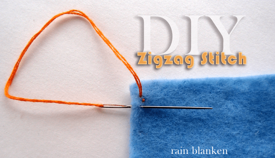 DIY Zigzag Stitch Photo Instructions