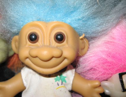 Troll doll, close-up