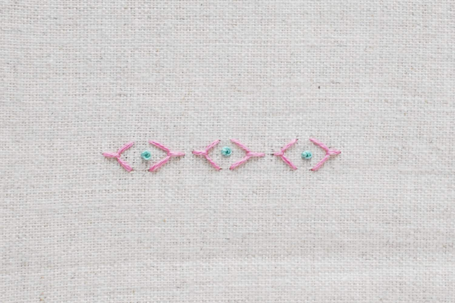 Fly Stitch and French Knots