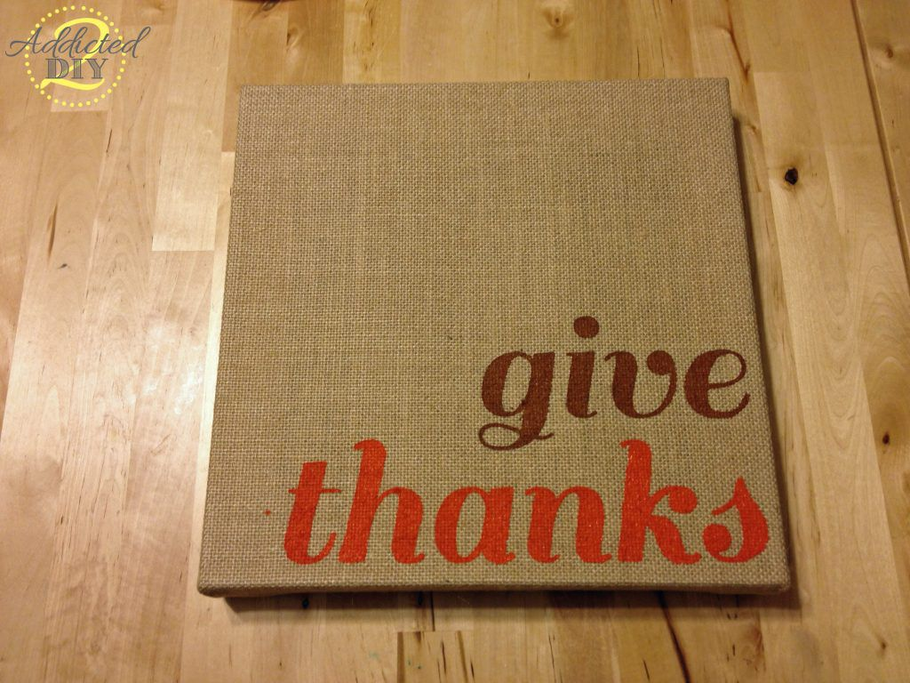 give thanks canvas art