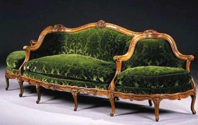 Canape A Confidante Sofa - Antique Couch, Sofa And Settee Styles