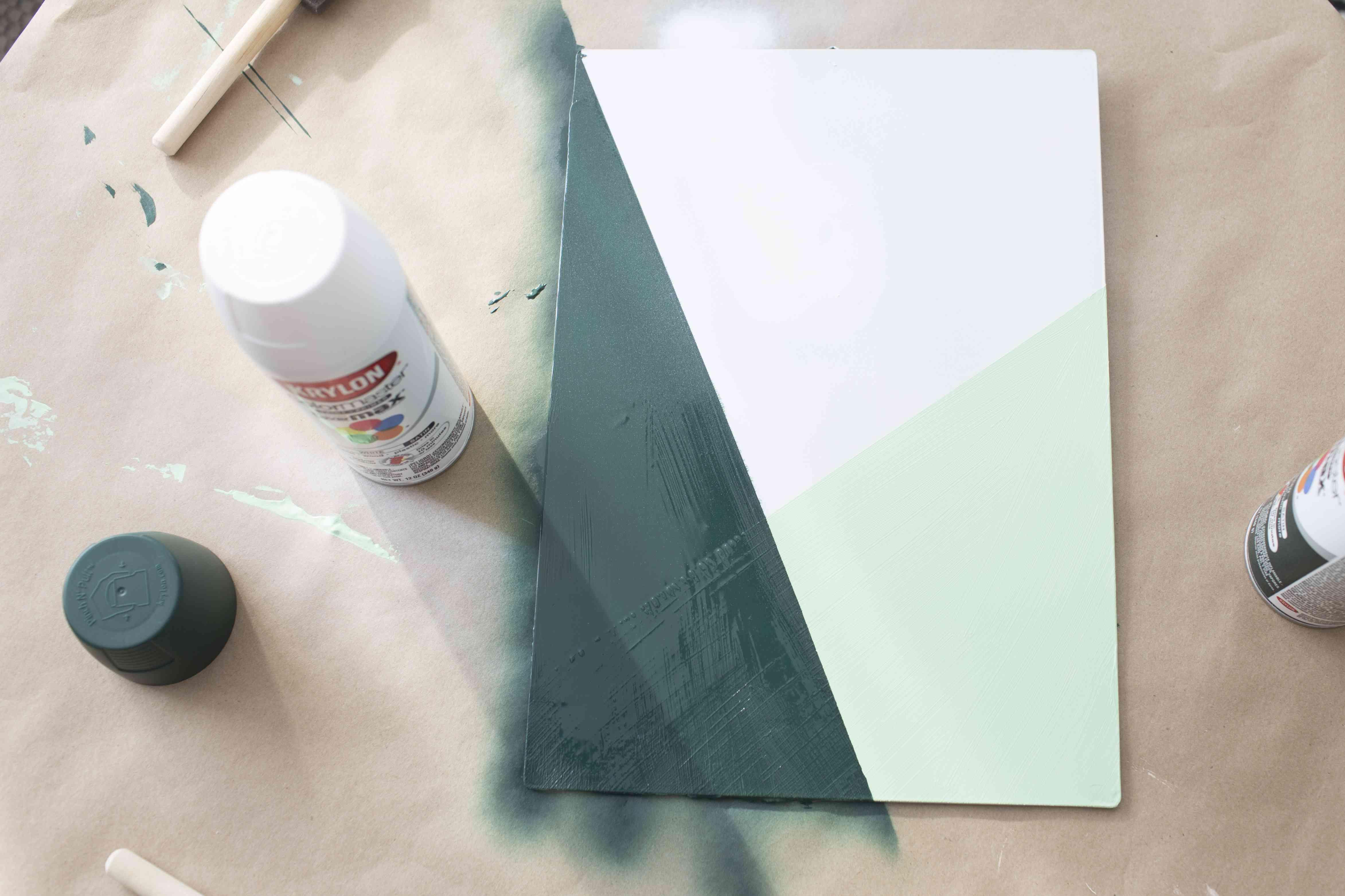 Add dark green paint