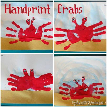 Simple Handprint Crafts For Kids