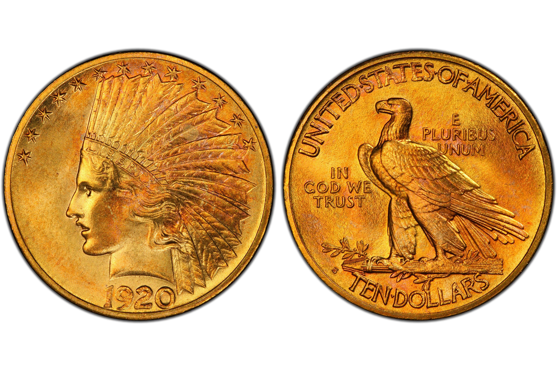 1920-S Indian $10 Gold Eagle