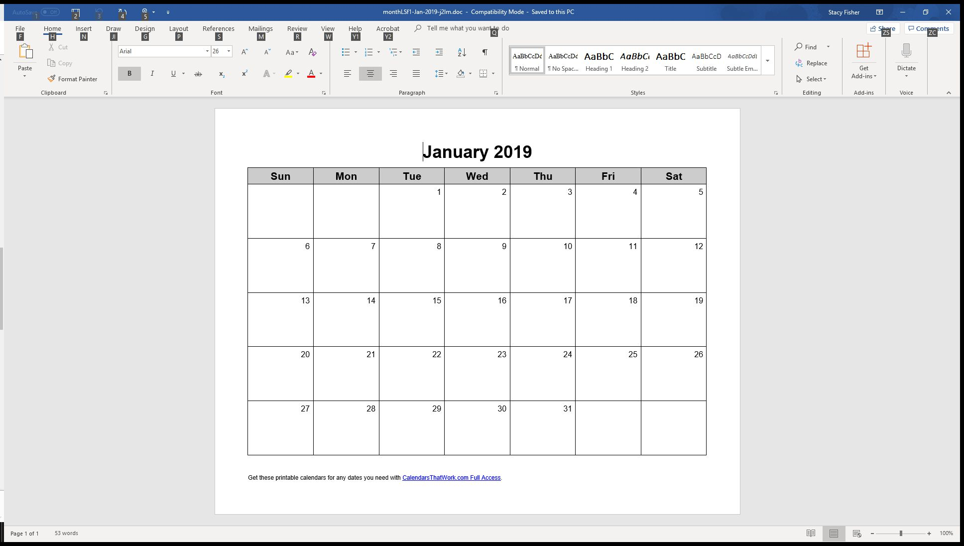 Calendrier 2019 Word Modifiable.7 Top Place To Find Free Calendar Templates For Word