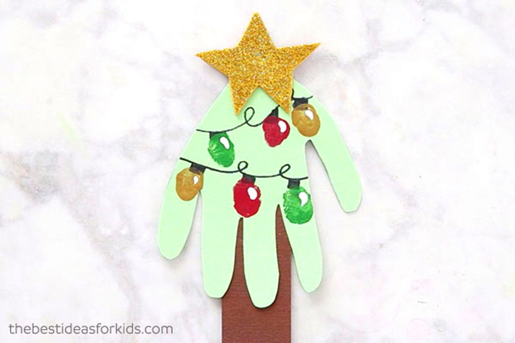 handprint Christmas Card