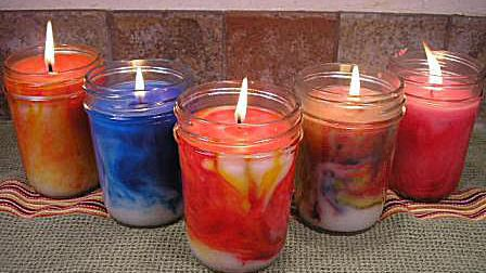 How To Make Swirled Container Candles