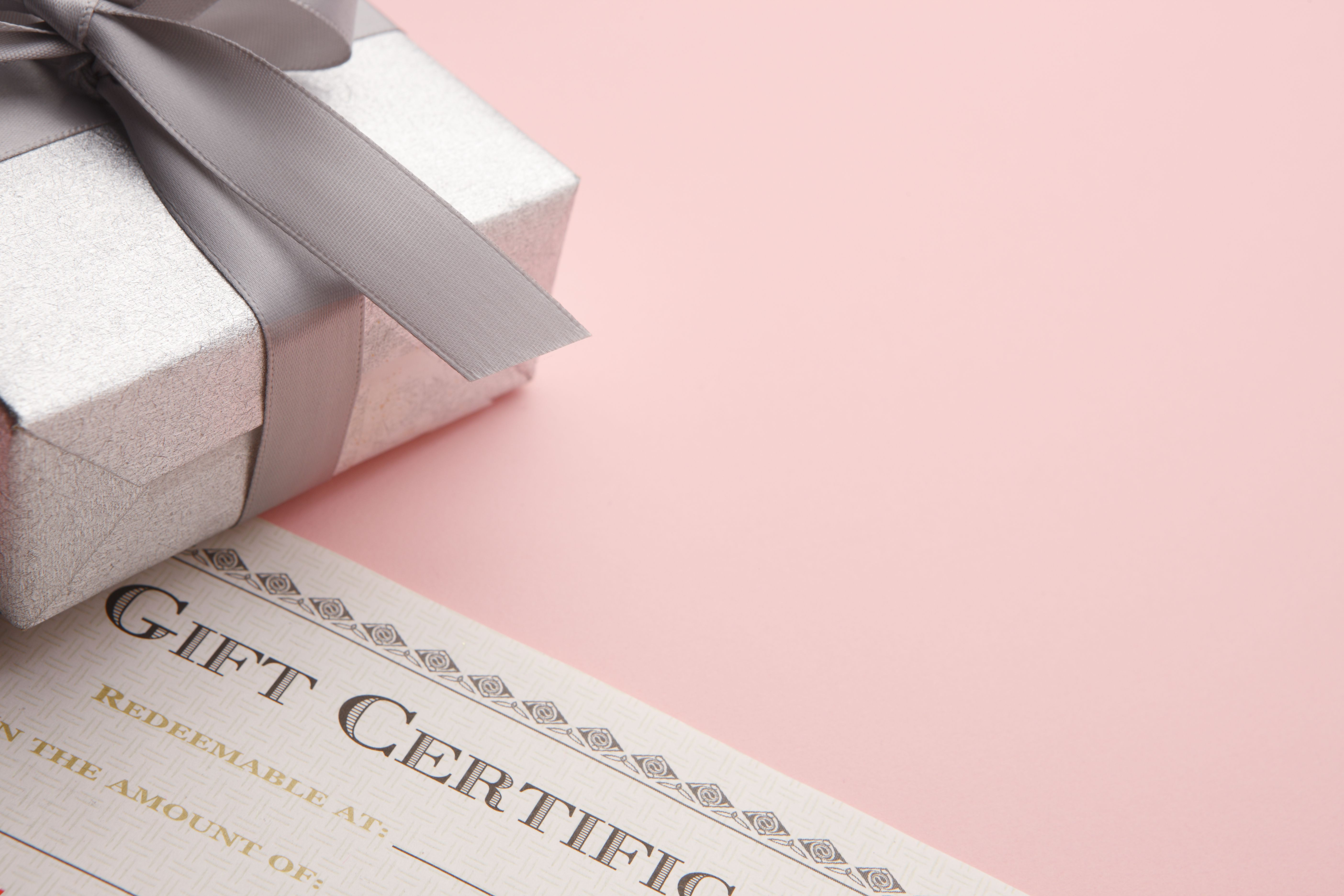 Gift Certificate and box.