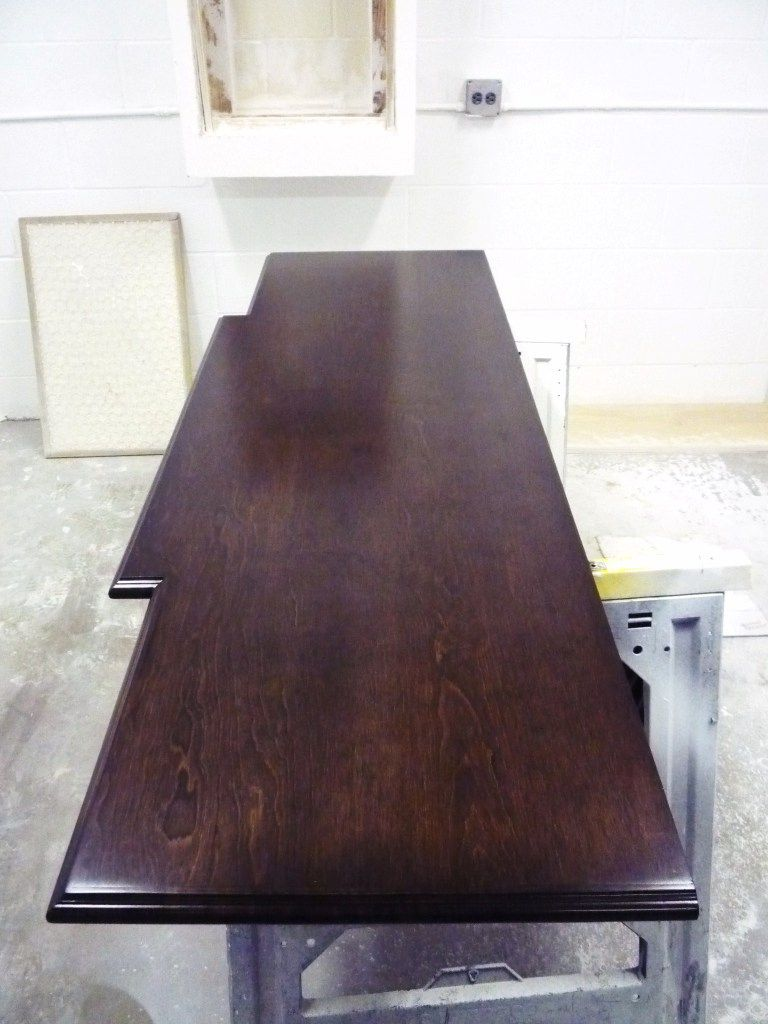 custom cabinet and trim carpentry houston tx jared meadors stained top in production special walnut with satin lacquer finish