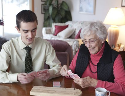 Grandmother Card Player