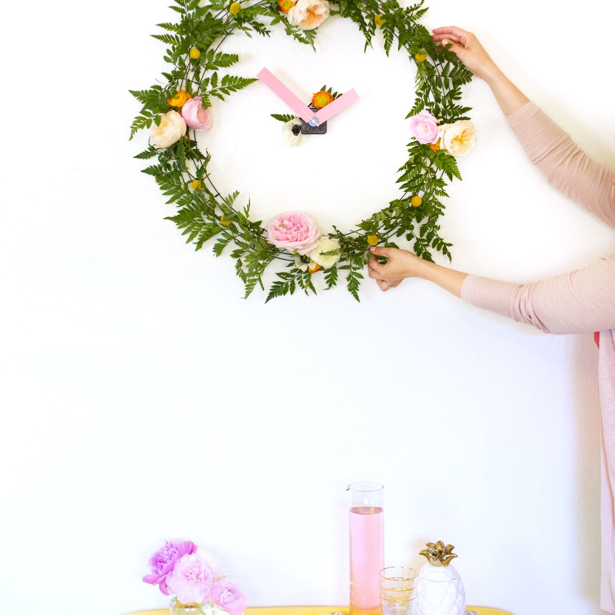 DIY Floral Wall Clock