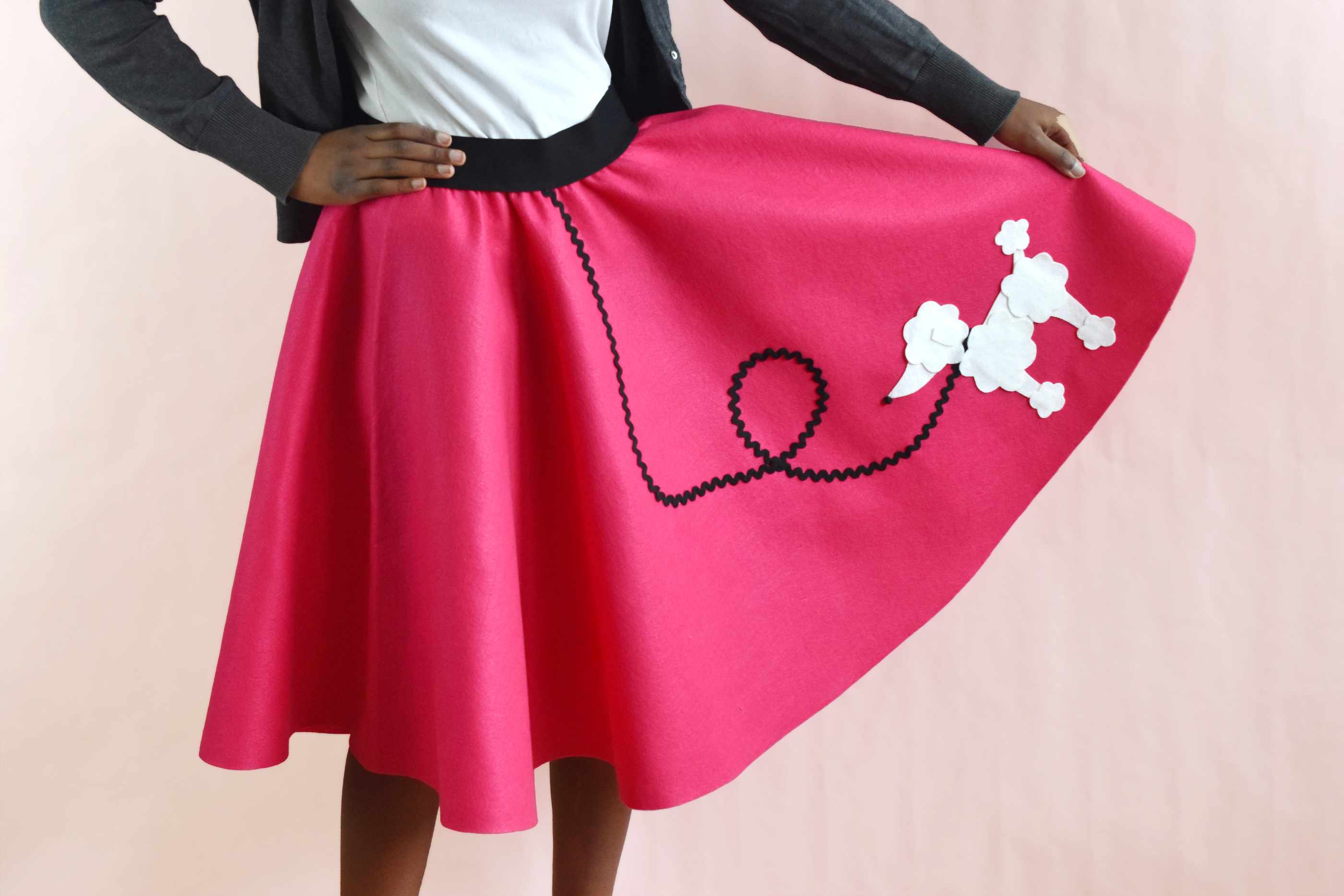 558577a852be How to Make an Easy-Sew Poodle Skirt