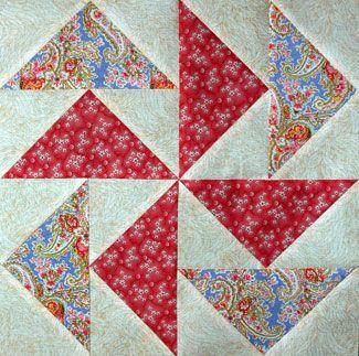 Flying Dutchman Quilt Block Pattern