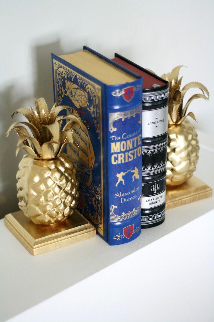 DIY Pineapple Bookends