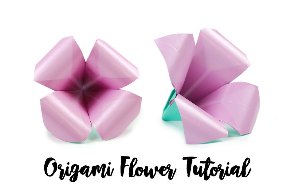 Make an easy origami lily flower origami flower tutorial 01 mightylinksfo