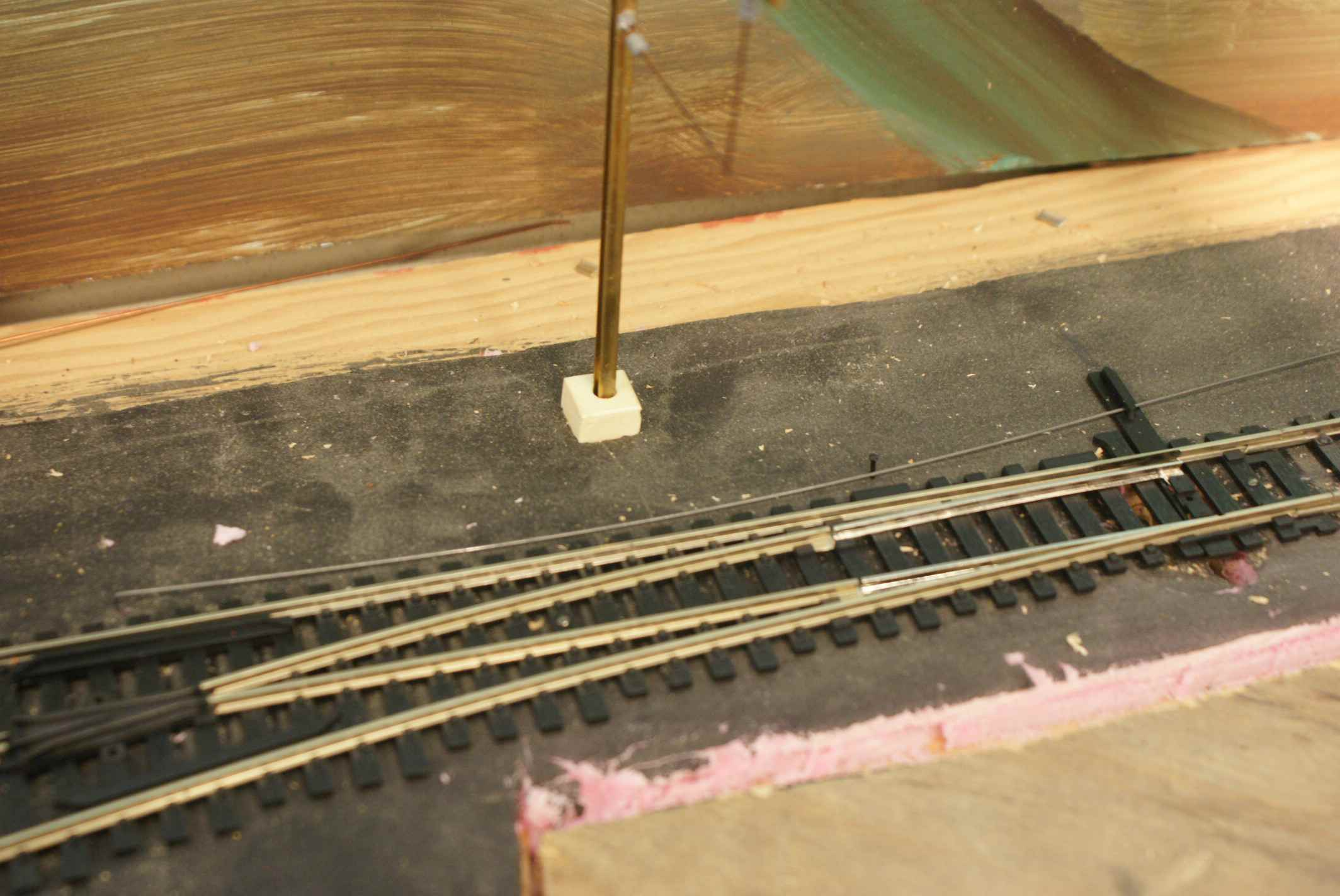 Model Train Switches Turnouts Or Points Ho Track Dcc Switch Motor Wiring Piano Wire And A Spike