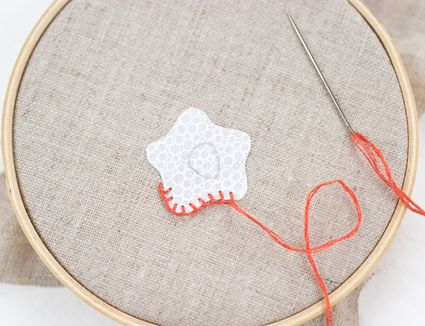 Using Blanket Stitch on Fused Applique