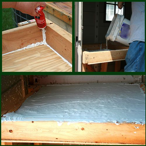 Finish your wedging table by caulking, then pouring in the plaster.