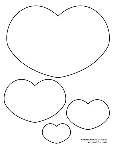 6 free printable heart templates